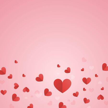 Hearts sprinkles isolated vector design with valentine day concept abstract background Ilustração