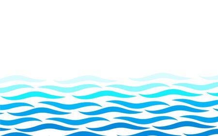 Abwechselnde Linien Wasser blaue Ozeanwelle abstrakte Hintergrundvektorillustration