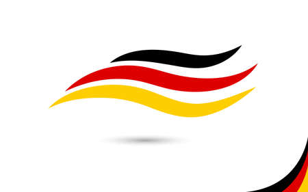 Germany flag wave curve abstract design art isolated on white background vector illustration