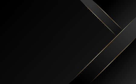 Abstract geometric oblique line triangle gold luxury modern frame with dark minimal subtle background vector illustration