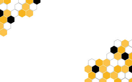 Hexagon bee hive vector abstract yellow and black modern with white background illustration. Illusztráció