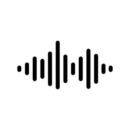 Equalizer music sound audio wave flat design icon isolated on white background vector illustration.