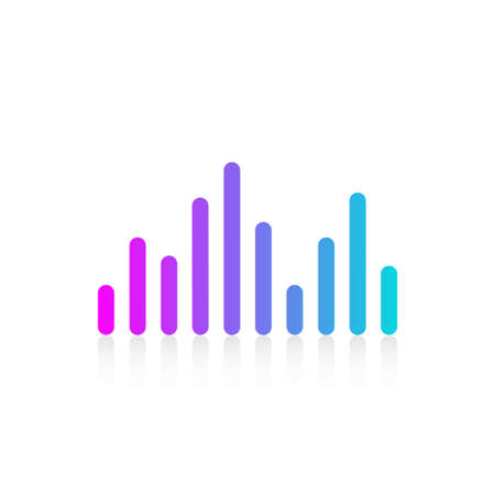 Equalizer sound audio wave multicolor flat design icon isolated on white background vector illustration.