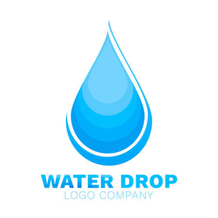 Water drop aqua logo design vector isolated on white abstract background