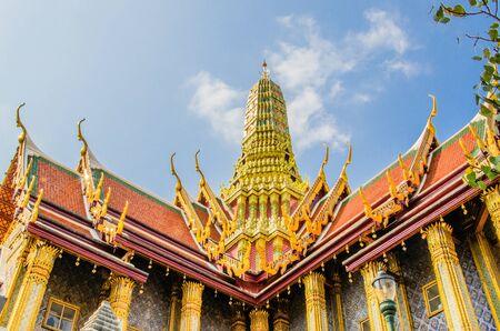 pra: Pagoda in Wat Pra Keaw Stock Photo