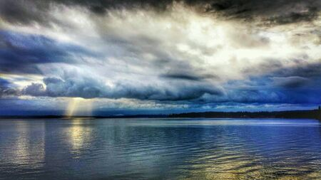 A shot of a stormy Puget Sound in Washington State.