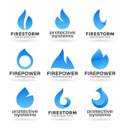 Blue fire Illustration