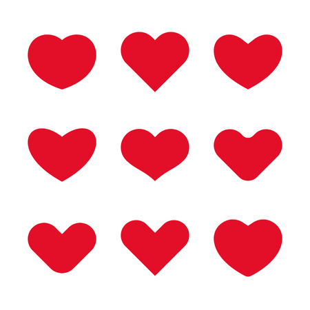 Vector heart icons and design elements for Valentine's day Stock Illustratie