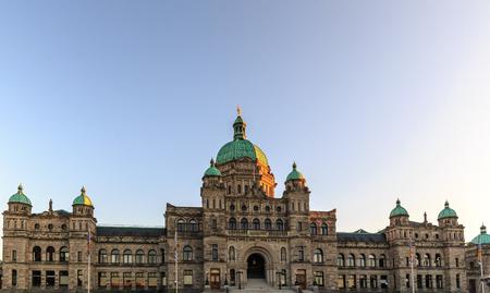 Parliament buildings located in Victoria, British Columbia, Canada.