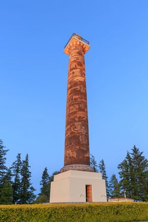 The Astoria Column in Astoria, Oregon.