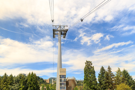 One of the Aerial Tram towers in Portland, Oregon