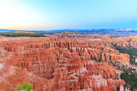 bryce: Bryce Amphitheater at sunset, in Bryce Canyon National Park