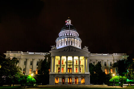 famous industries: Sacramento, California, United States - June 9, 2013: The California State Capitol is the seat of the government of California, housing the chambers of the state legislature in Sacramento. Editorial