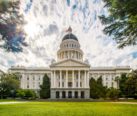 famous industries: Sacramento, California, United States - June 10, 2013: The California State Capitol is the seat of the government of California, housing the chambers of the state legislature in Sacramento.