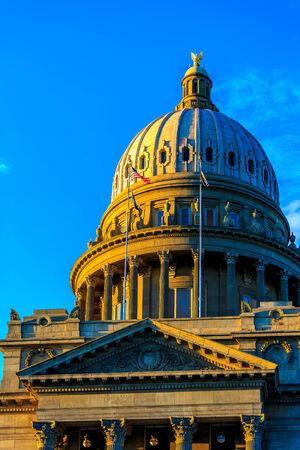 economic revival: Boise, Idaho - JUNE 29, 2012: The Renaissance Revival Capitol building reflects Idahos political, social, and economic history.