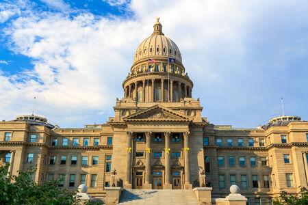 economic revival: Boise, Idaho - JULY 8, 2012: The Renaissance Revival Capitol building reflects Idahos political, social, and economic history.