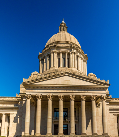famous industries: Legislative Building In Olympia, Washington State Capital, USA.
