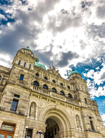 famous industries: Parliament buildings located in Victoria, British Columbia, Canada.