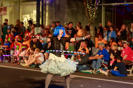 starlight: Portland, Oregon, USA - May 30, 2015: Character Clown Corps in the Starlight Parade during Portland Rose Festival 2015. Editorial