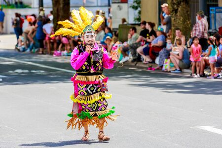 tres: Portland, Oregon, USA - June 6, 2015: Family and Friends of Rancho Tres Potrillos in the Grand Floral Parade during Portland Rose Festival 2015.