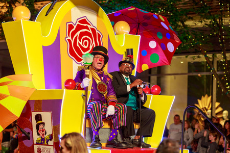 starlight: Portland, Oregon, USA - May 30, 2015: Rose Festival Clown Prince in the Starlight Parade during Portland Rose Festival 2015.