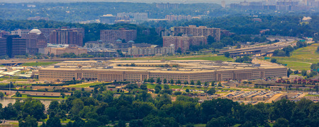 pentagon: Pentagon building, the Department of Defense headquarters in Arlington, Virginia, near Washington DC. Stock Photo