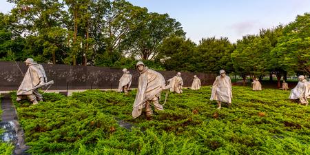 statutes: Stainless Steel Statutes of soldiers in Korean War Veterans Memorial, Washington DC.