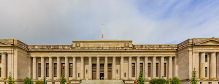 local landmark: Olympia, Washington, USA - March 24, 2016: The Temple of Justice is a government building in Olympia, Washington, where sessions of the Washington Supreme Court are convened. Editorial