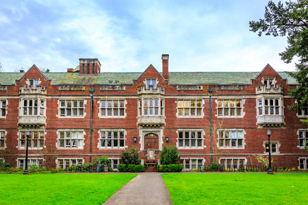 Portland, Oregon, USA - March 4, 2016: Reed College is a private liberal arts college in southeast Portland in the U.S. state of Oregon. Editorial
