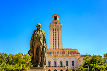 Austin, Texas, USA - JUNE 6, 2016: The Main Building (known colloquially as The Tower) is a structure at the center of the University of Texas at Austin campus in Downtown Austin, Texas, United States. Editorial