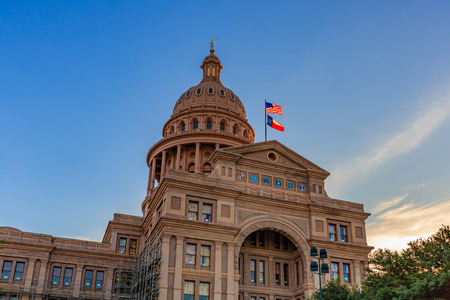 Austin, Texas, USA - JUNE 5, 2016: The Texas State Capitol, completed in 1888 in Downtown Austin, contains the offices and chambers of the Texas Legislature and the Office of the Governor. Editorial