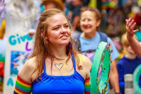 Portland, Oregon, USA - June 18, 2017: Portland's 2017 Pride Parade reflects the community diversity.