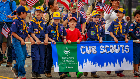 Portland, Oregon, USA - June 8, 2019: Boy Scouts of America in