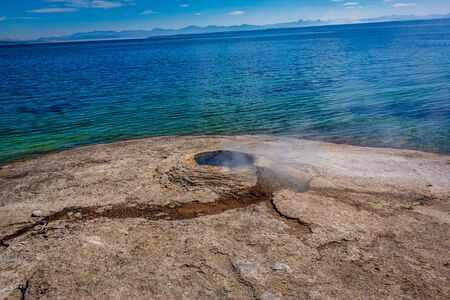 BIg Cone is a geyser in the West Thumb Geyser Basin of Yellowstone National Park