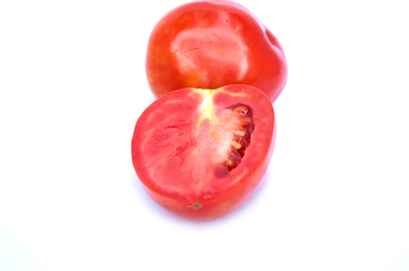 Image of tomato deer fabric lined up nicely . On a white background