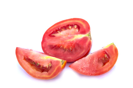 nicely: Image of tomato deer fabric lined up nicely . On a white background