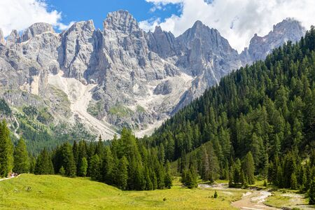The Val veneggia and the Pale di San Martino a wonderful place of the Dolomites, Italy