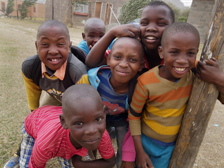 lesotho: Maseru,Lesotho,10 Oct 2015-Smiling Meseru boys pose for the camera in Lesotho, Africa. Editorial