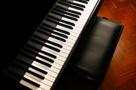 Classic piano ready for music concert Stock Photo - 4959529