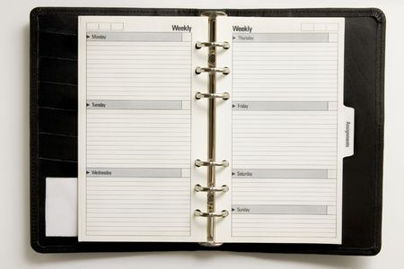 appointment book: Blank business agenda ready for writing