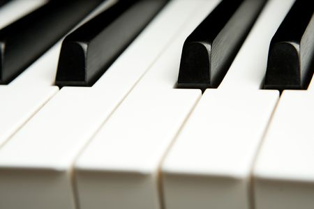 detail of keys on a piano ready for music concert Stock Photo - 4994040