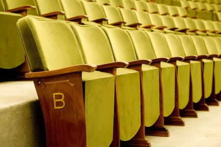 Empty seats for cinema, theater, conference or concert Stock Photo