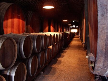 Ancient Wine Celler production cave interior shot