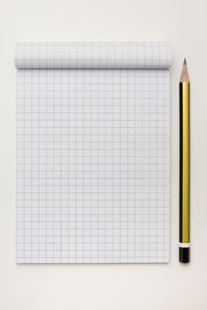 Blank math notebook ready for writing, and graphics Stock Photo - 5048703