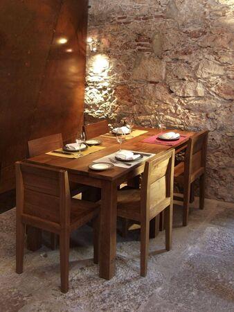 Modern design interior dinner room house or hotel