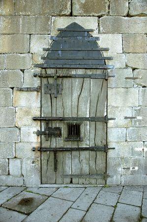 Very old castle door with rusty details Stock Photo - 5048811
