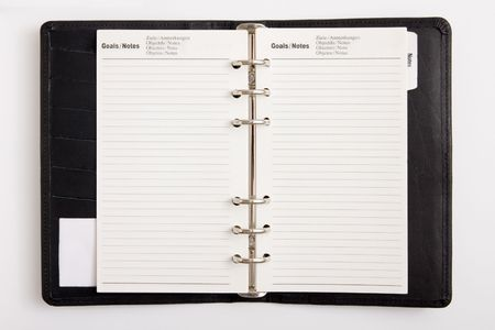 agenda: Blank business agenda ready for writing
