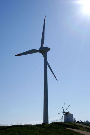 eolic: Eolic turbines in sunny day