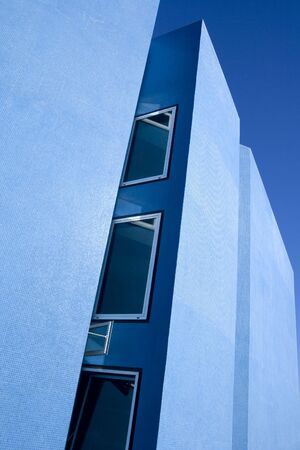 Modern Blue house architecture