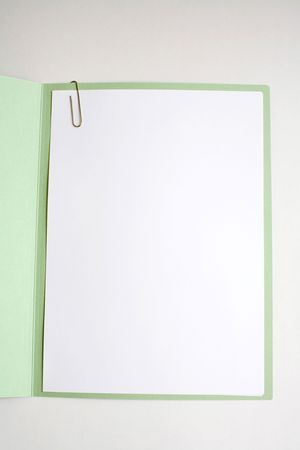 Blank A4 sheet of paper with cover, great for writing and graphics Stock Photo - 5048927